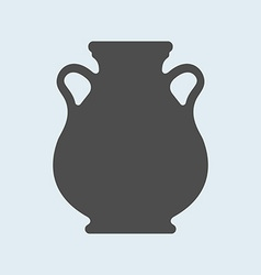Icon of Ancient antique vase or amphora Pottery vector image
