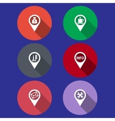 icons in a flat design vector image