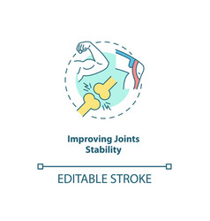 Improve joint stability concept icon vector