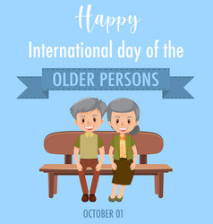 international day older persons 1st vector image