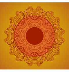 Lace background for greeting card like Indian vector image