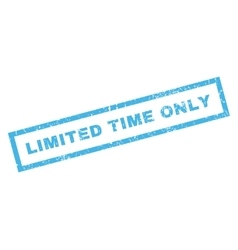 Limited Time Only Rubber Stamp vector