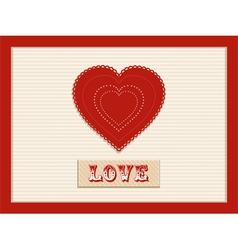 Love heart background vector
