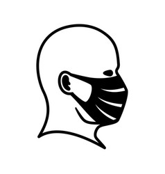 Man icon in a protective mask vector