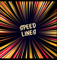 Manga speed lines layout for comic books vector