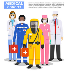 Medical concept detailed doctor vector
