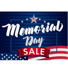 Memorial day navy blue sale banner vector