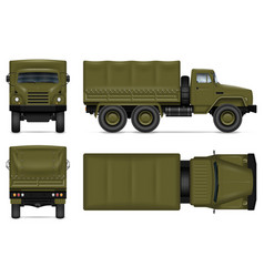 Military vehicle isolated mockup vector