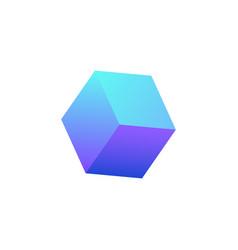 Neon block icon vector