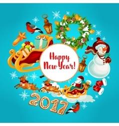 New Year winter holidays design vector