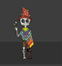 or day of the dead vector image