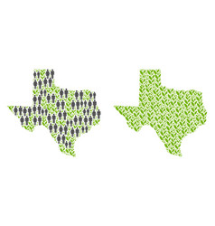 Population and nature texas map vector