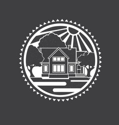 real estate concept home vector image