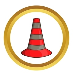 Safety cones icon vector image