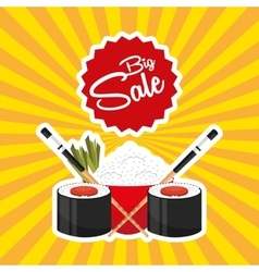 sale of asian food vector image