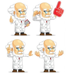 Scientist or Professor Customizable Mascot 4 vector image