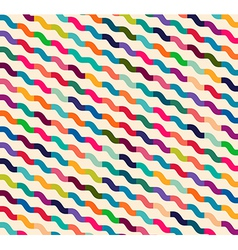 Seamless colorful waves for universal usage vector image