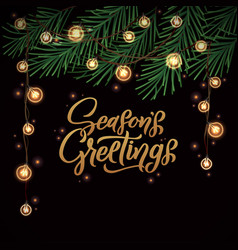Seasons greetings merry christmas holiday vector