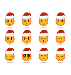 Set of emojis vector