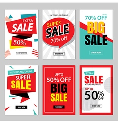 Set of sale website banner templates vector image