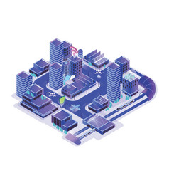 smart city model isolated on white background vector image