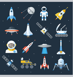 spacecraft shuttle exploration vector image