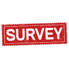 survey grunge rubber stamp vector image