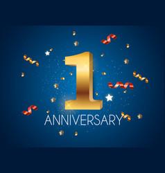 Template logo 1 years anniversary vector