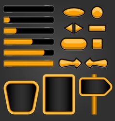 User unterface game design-1 vector image