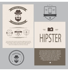 Vintage hipster design elements set vector