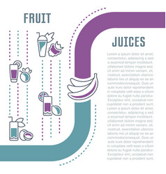 Website banner and landing page fruit juices vector
