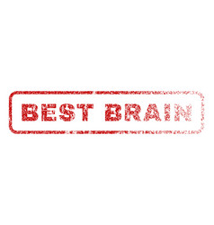 best brain rubber stamp vector image