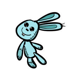 funny bunny easter character vector image