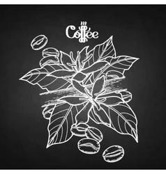 Gaphic coffee vignette vector image