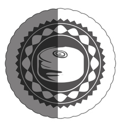 Isolated bread inside seal stamp design vector