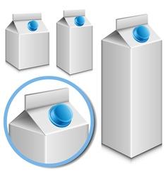 milk carton set vector image vector image