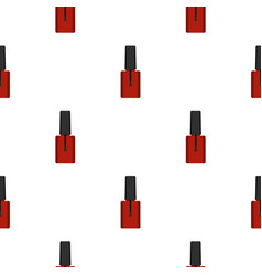 Nail polish pattern flat vector