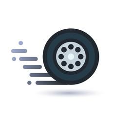 twisting wheel icon vector image vector image