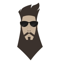 A brutal man Hipster in dark glasses vector image