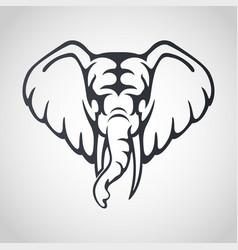 african elephant logo icon design vector image vector image