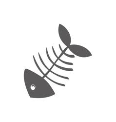 Cartoon fish skeleton vector image