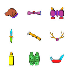 Chase icons set cartoon style vector