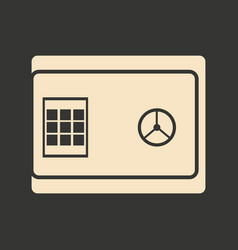 Flat in black and white safe code vector