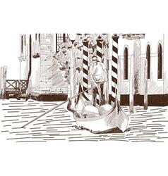 Gondola vector image