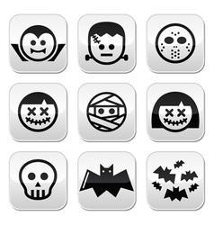 Halloween characters - dracula frankenstein mumm vector