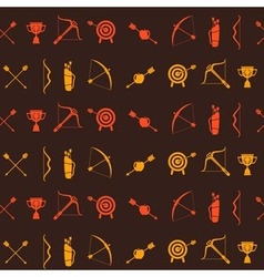 Seamless background with archery vector image