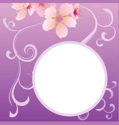 spring background for the design of flowers vector image vector image