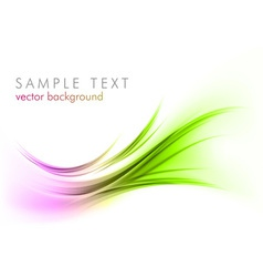 abstract shape smoke on white curves purple green vector image vector image