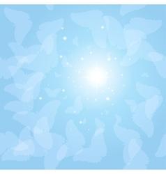 Butterflies in the sky vector image vector image