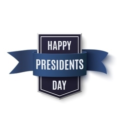 Happy Presidents Day background template vector image